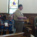 with the help of Girl Scouts in the congregation