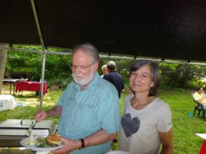 Charles Phillips, here with Karen Longo-Baldwin, is in charge of Week 4.