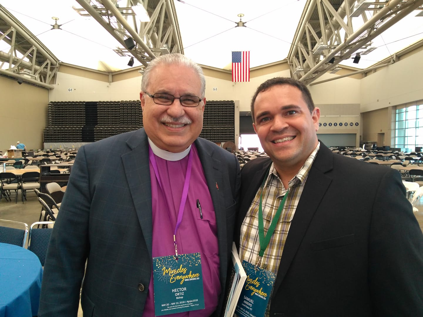 Pastor Sammy Arroyo and Bishop Hector Ortiz